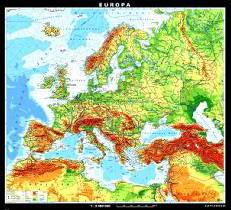 Wall Maps for World and Europe