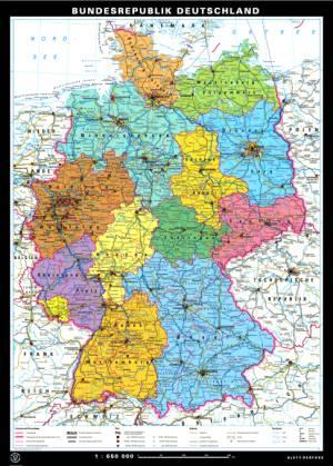 Wall Maps Germany Grades Klettmapscom - Germany physical map