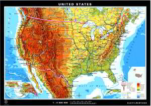 Wall Maps For US And Canada Klettmapscom - Us and canada political map