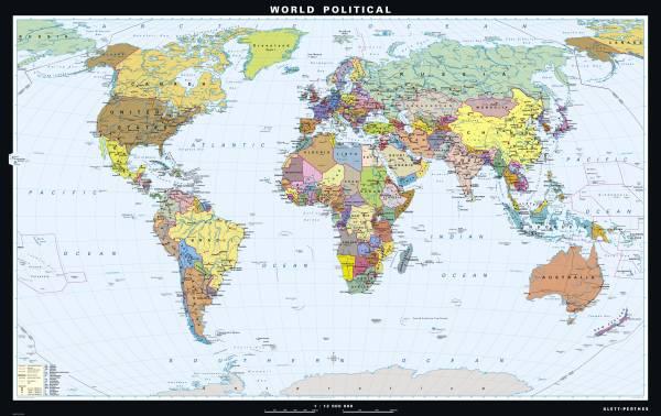Giant and Supergiant Maps   World   Klettmaps.com