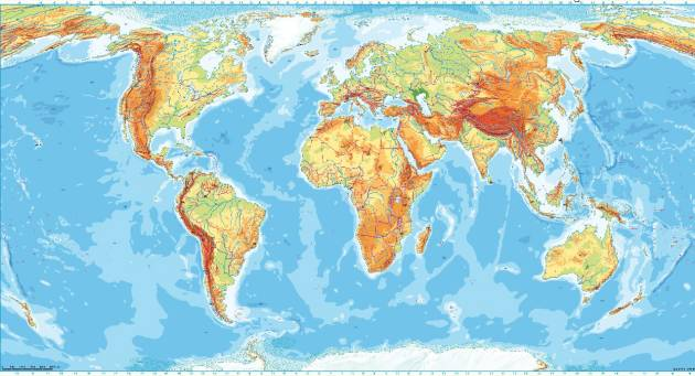 Interactive Perthes Wall Map World USA Klettmapscom - Usa map physical