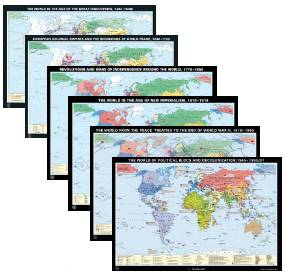 "Wallmap Set ""World History"""